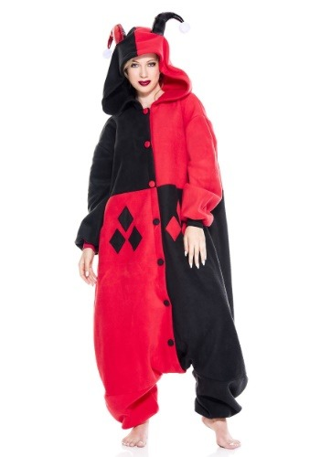 Click Here to buy Harley Quinn Jester Pajama Costume from HalloweenCostumes, CDN Funds