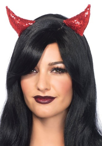 Click Here to buy Devil Horns Sequin Headband from HalloweenCostumes, CDN Funds