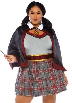 Womens Plus Size Spell Casting School Girl Costume