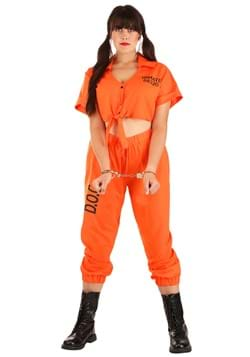 Inmate Orange Prisoner Plus Size Costume