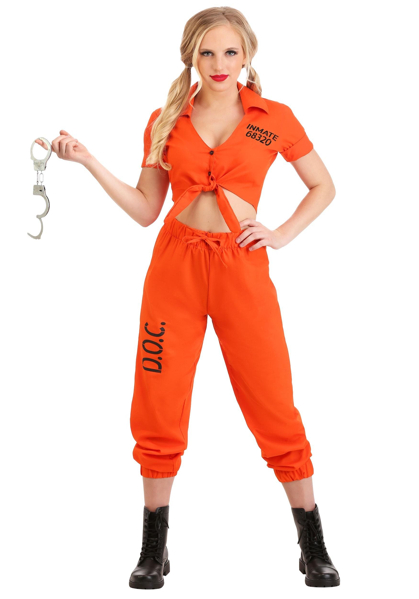Orange Inmate Prisoner Costume Women\u0027s