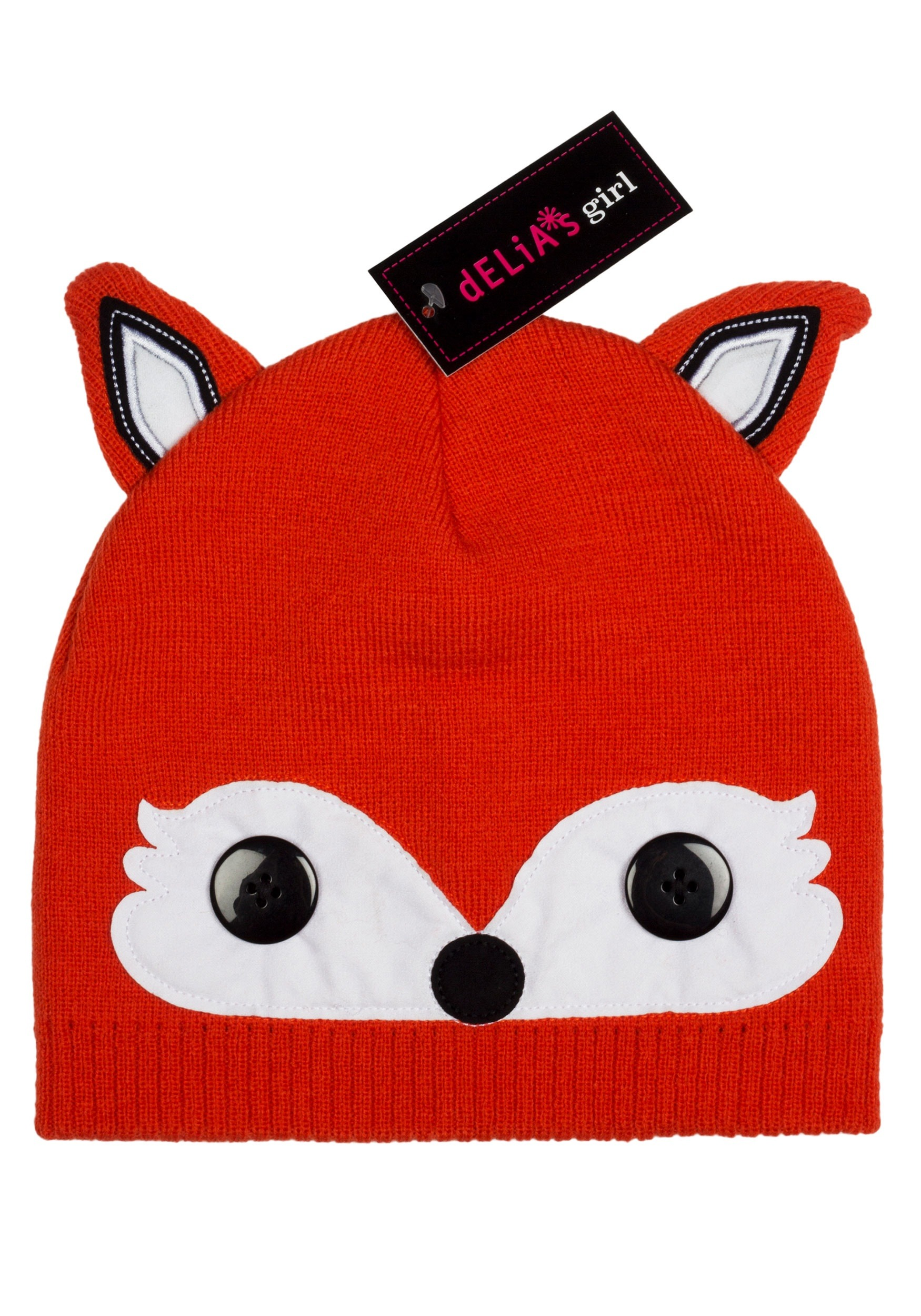 66565076 Delia's Girl's Fox Cold Weather Beanie Hat