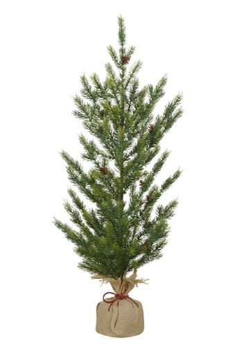"Burlap 36"" Base Christmas Pine Tree"