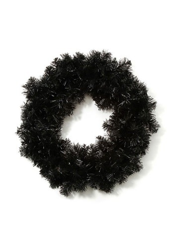 """Add this 20"""" Black Halloween Wreath to your Halloween decor! This wreath also is a great base to add whatever decorations you want. #%20"""