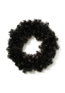 "20"" Black Halloween Wreath"