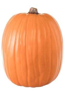 "Carvable 13"" Artificial Orange Pumpkin"