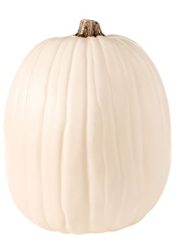 "Carvable 13"" Artificial Cream/White Pumpkin"
