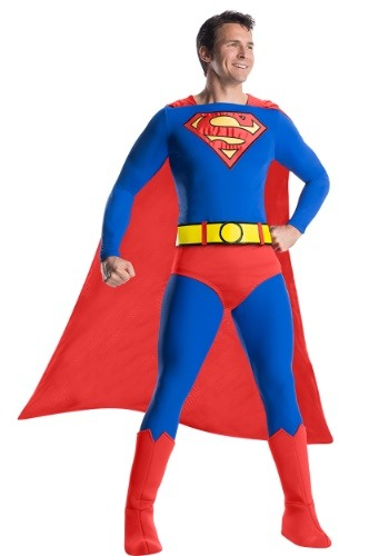 Click Here to buy Classic Mens Premium Superman Costume from HalloweenCostumes, CDN Funds