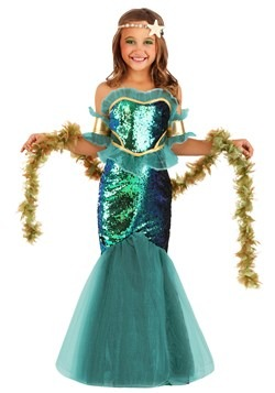 Girl's Sea Siren Costume Main