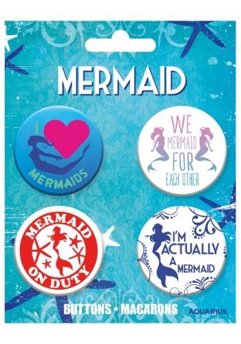 Mermaids 4-Pack Button Set