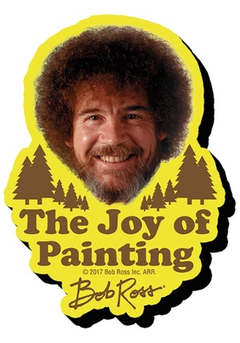 Bob Ross The Joy of Painting Funky Chunky Magnet