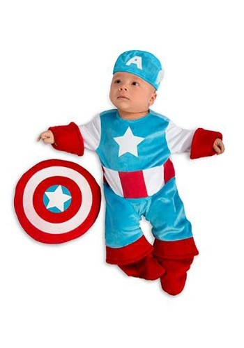 Click Here to buy Baby Captain America Costume from HalloweenCostumes, CDN Funds