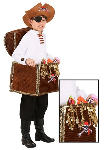 Child Pirate Chest Candy Catcher Costume New
