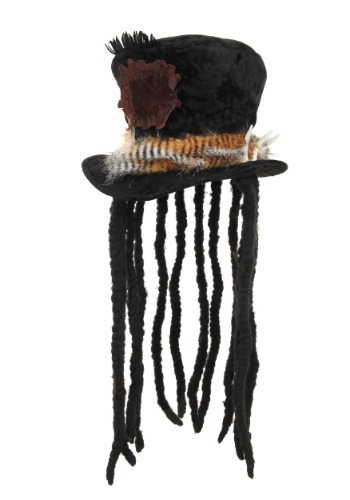 Witch Doctor Hat with Dreadlocks