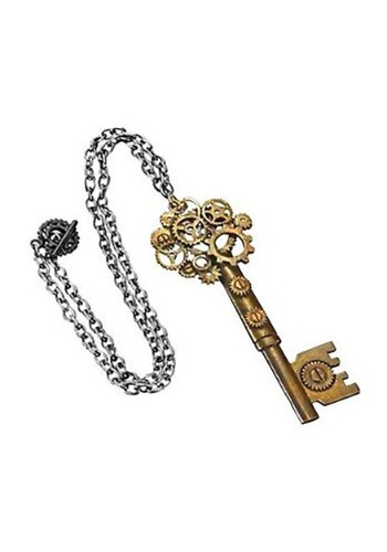 Large Steampunk Key Gear Necklace1