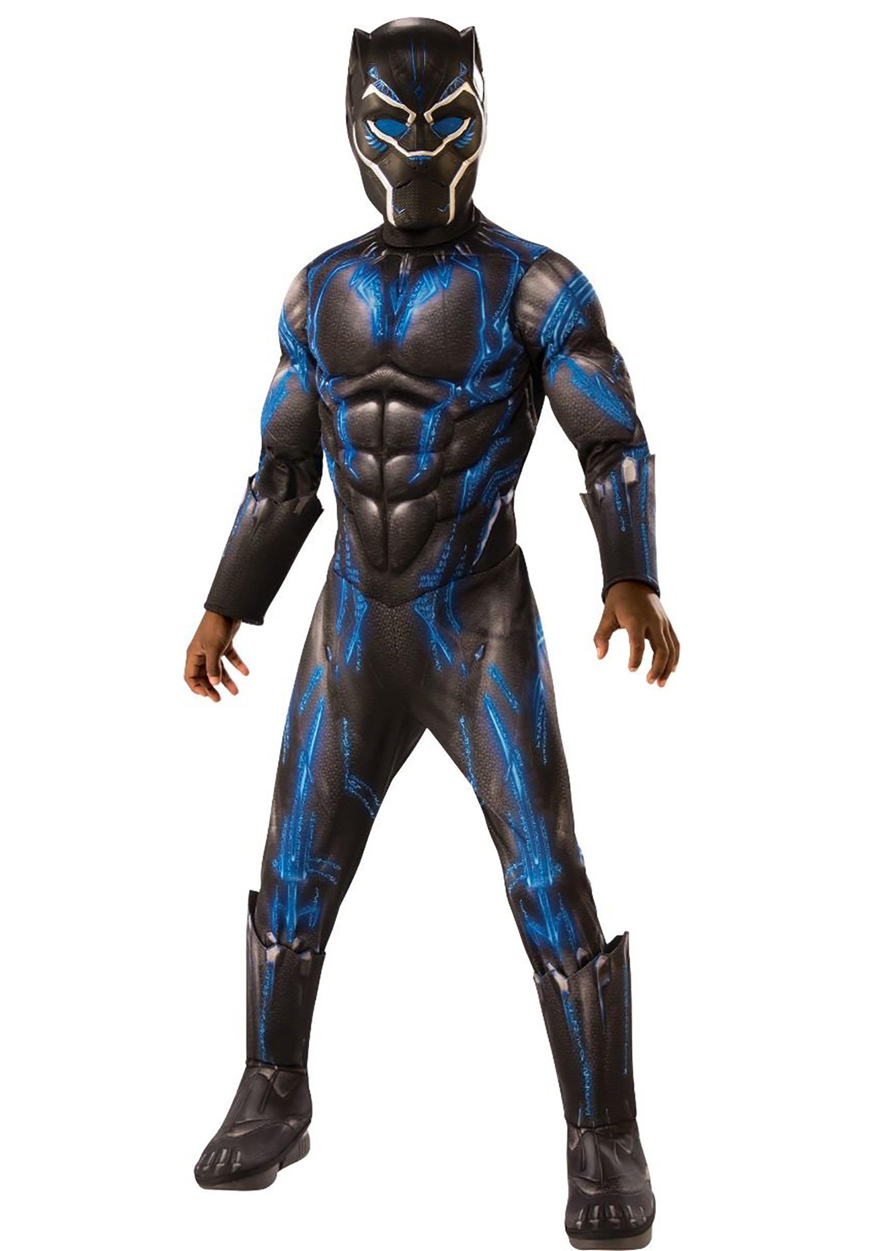 d05e0894 Black Panther Child Deluxe Battle Blue Suit Costume