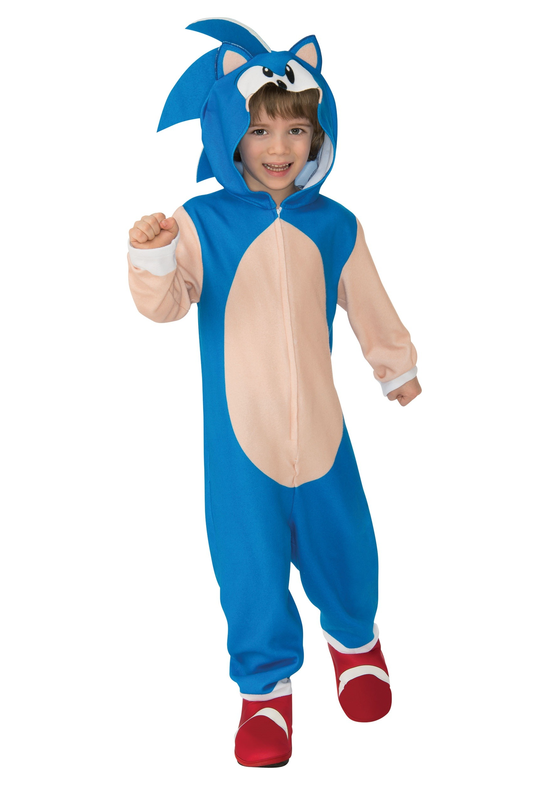 Boy S Sonic The Hedgehog Hooded Costume