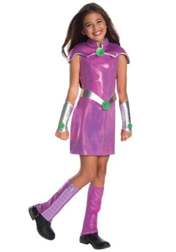 Girls DC Superhero Girls Deluxe Starfire Costume