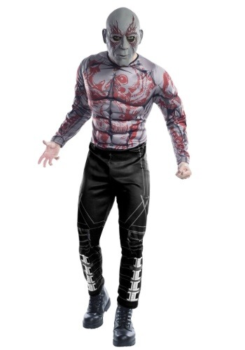 Click Here to buy Marvel Guardians of the Galaxy Deluxe Drax Adult Costume from HalloweenCostumes, CDN Funds