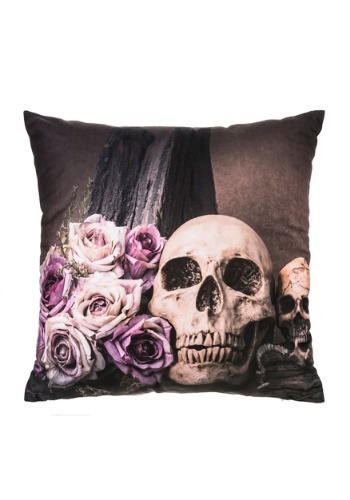 "16"" Skull Pillow w/ LED Lights"