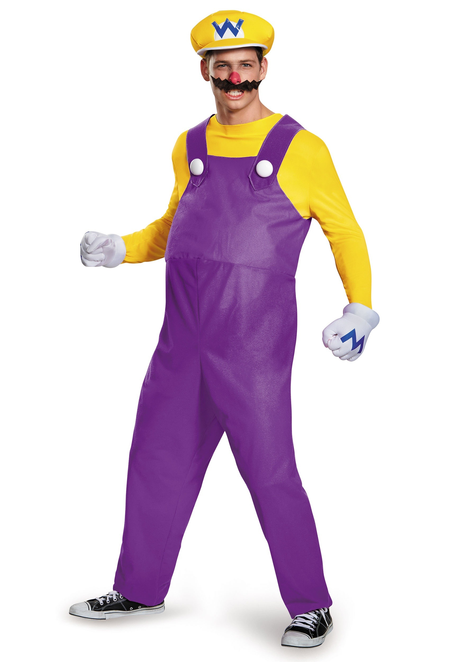 Wario Deluxe Adult CostumeWaluigi And Wario Costumes