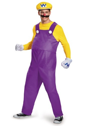 Click Here to buy Wario Deluxe Adult Costume from HalloweenCostumes, CDN Funds