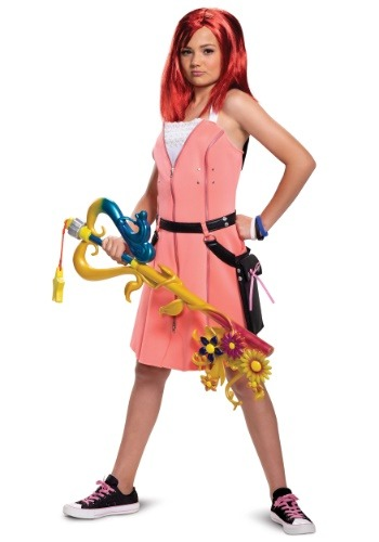 Click Here to buy Kingdom Hearts Kairi Deluxe Costume for Teens from HalloweenCostumes, CDN Funds