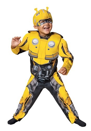 Click Here to buy Toddler Bumblebee Movie Transformer Costume from HalloweenCostumes, CDN Funds