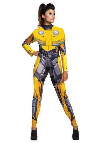 Click Here to buy Womens Bumblebee Movie Bumblebee Costume from HalloweenCostumes, CDN Funds