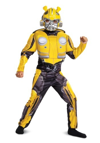 Click Here to buy Bumblebee Movie Muscle Costume For Boys from HalloweenCostumes, CDN Funds