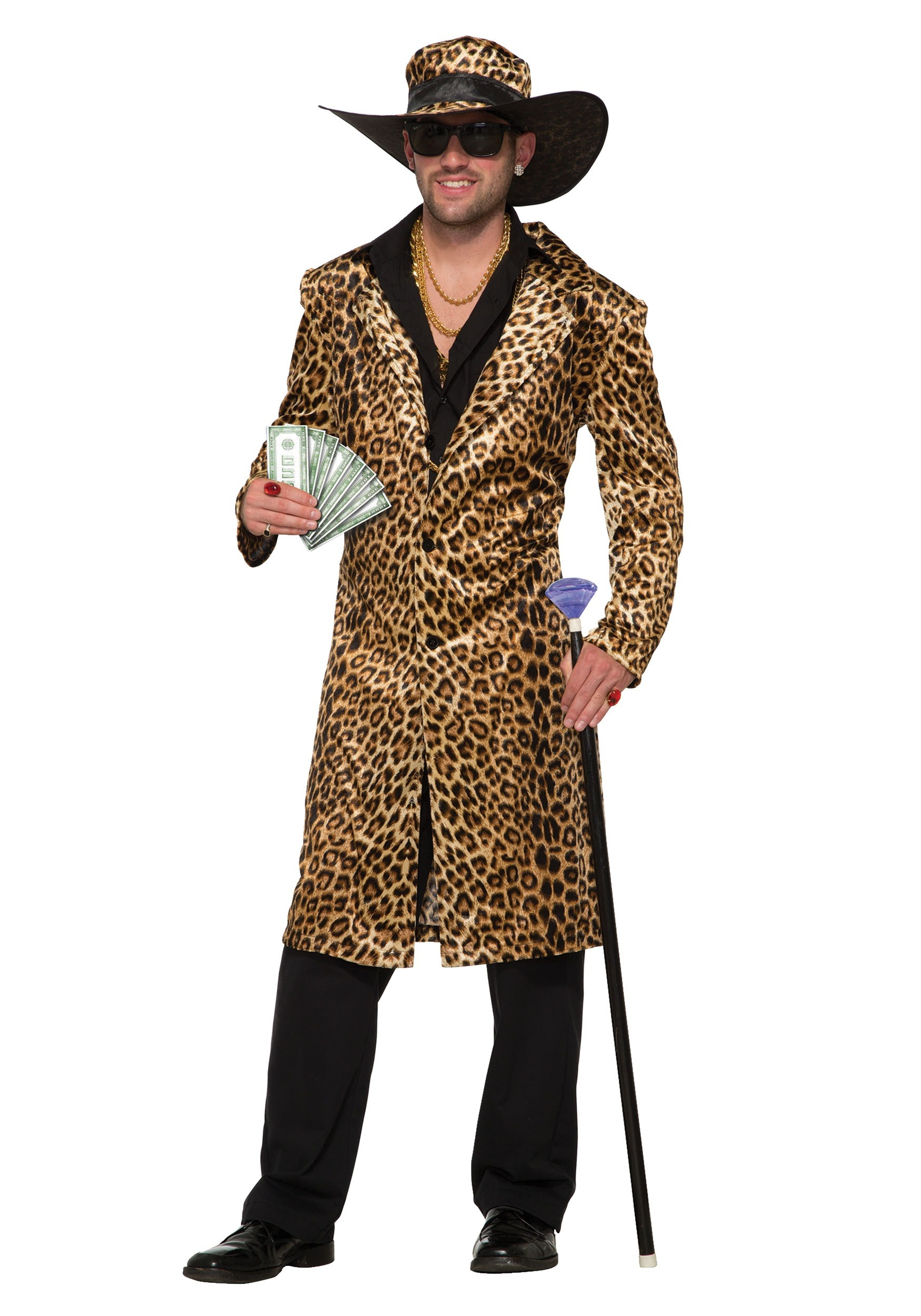 Mens Funky Leopard Pimp Costume  sc 1 st  Halloween Costumes : pimp costumes for mens  - Germanpascual.Com