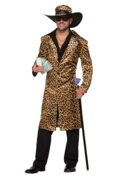 Mens Funky Leopard Pimp Costume
