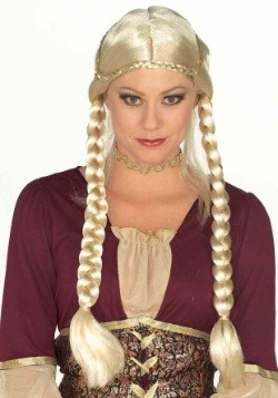 Women's Blonde Renaissance Braided Wig Update Main