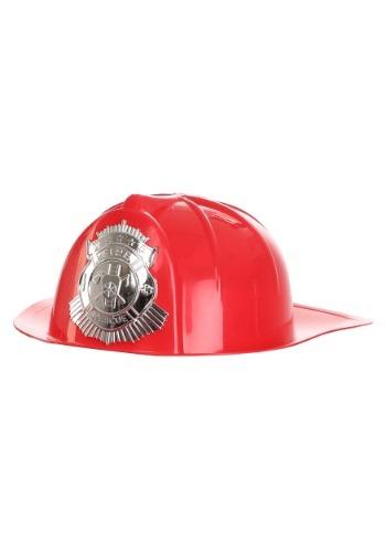 Deluxe Red Fireman's Helmet