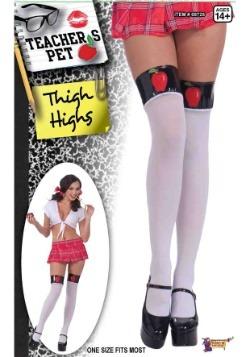 Teacher's Pet White Thigh Highs