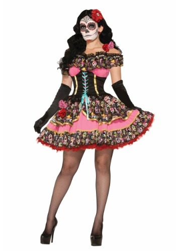 Day of the Dead Senorita Costume for Women