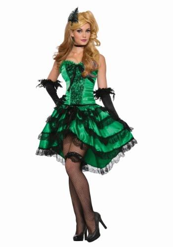 Women's Emerald Saloon Girl Costume Update1