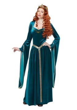 womens lady guinevere teal costume