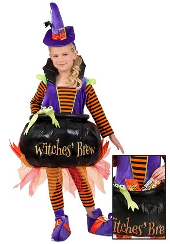 Toddler Cauldron Witch Costume New