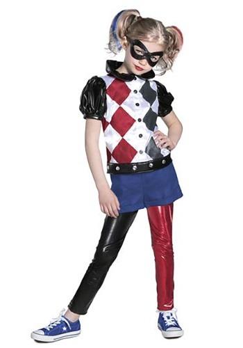 DC Superhero Girl's Premium Harley Quinn Costume – Size: L – Polyester