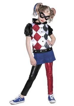DC Superhero Girl's Premium Harley Quinn Costume