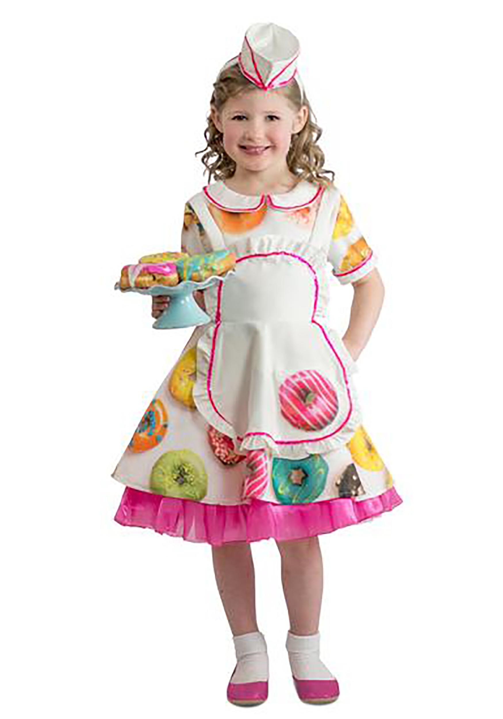 Toddler Donut Waitress Costume