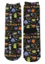 Halloween Monsters Adult Crew Cut Socks