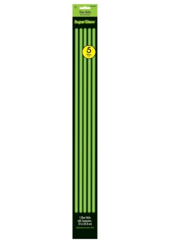 "22"" Green Glowsticks- Pack of 5"