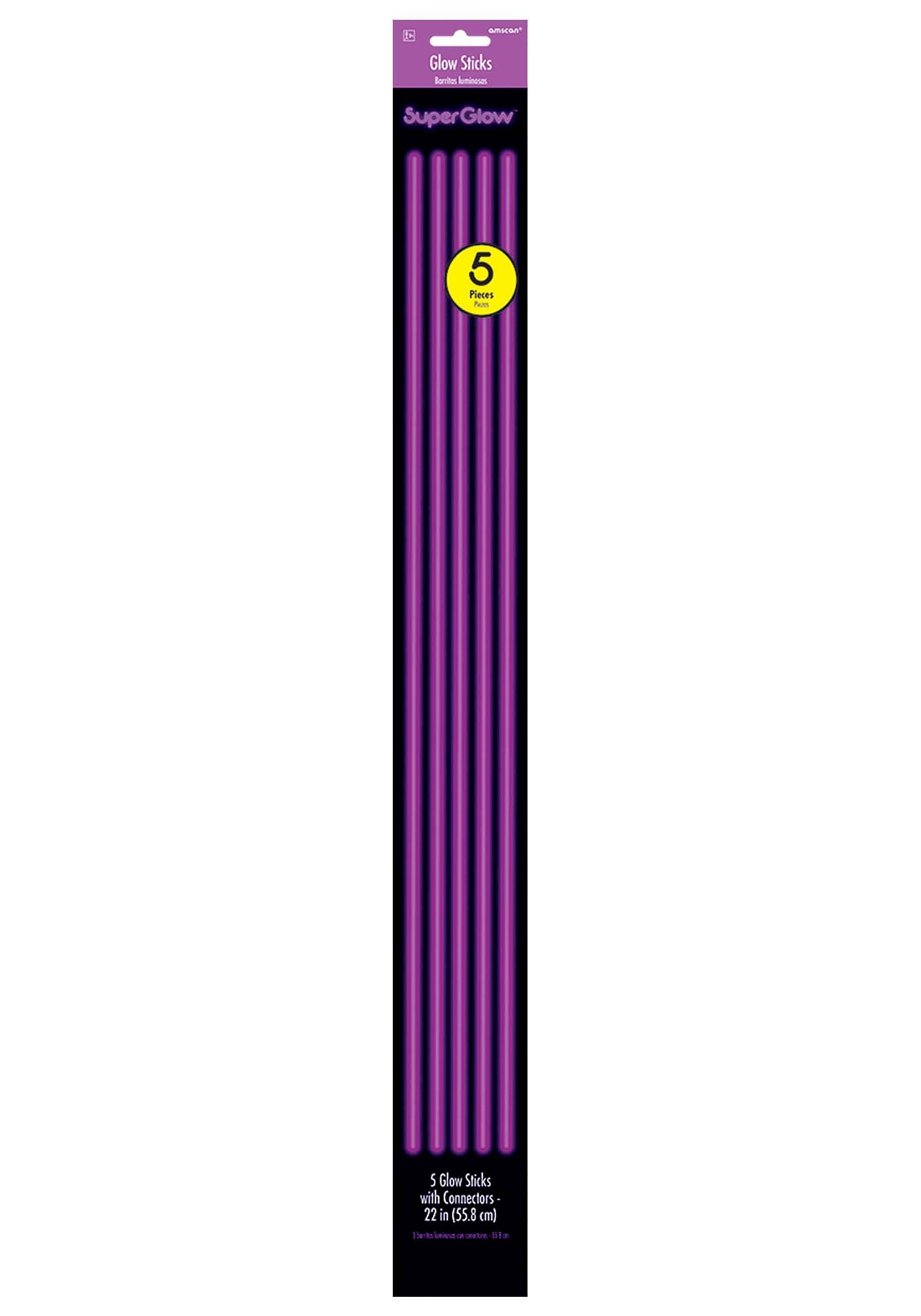 22 purple glowsticks pack of 5