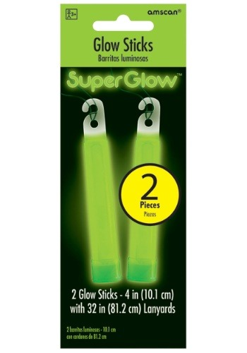 "Green Glowsticks - 4"" Pack of 2"