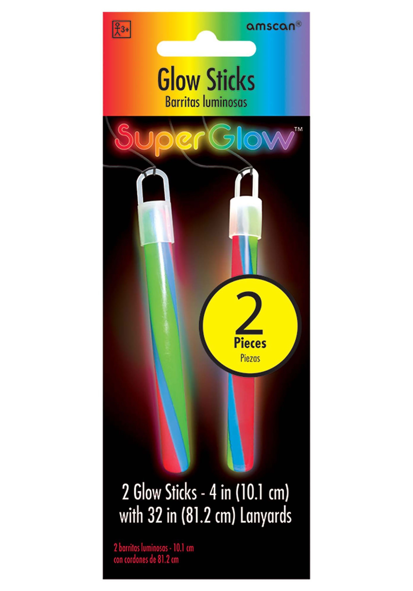 """4""""_Multi_Color_Glowsticks_-_Pack_of_2"""