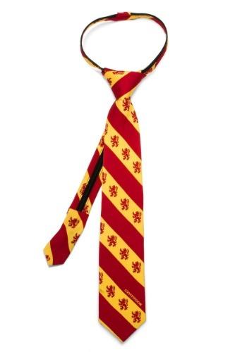 Gryffindor Stripe Boy's Zipper Tie