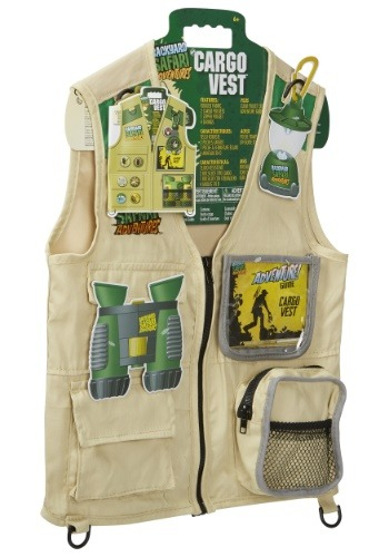 Click Here to buy Kids Back Yard Safari Cargo Vest from HalloweenCostumes, CDN Funds
