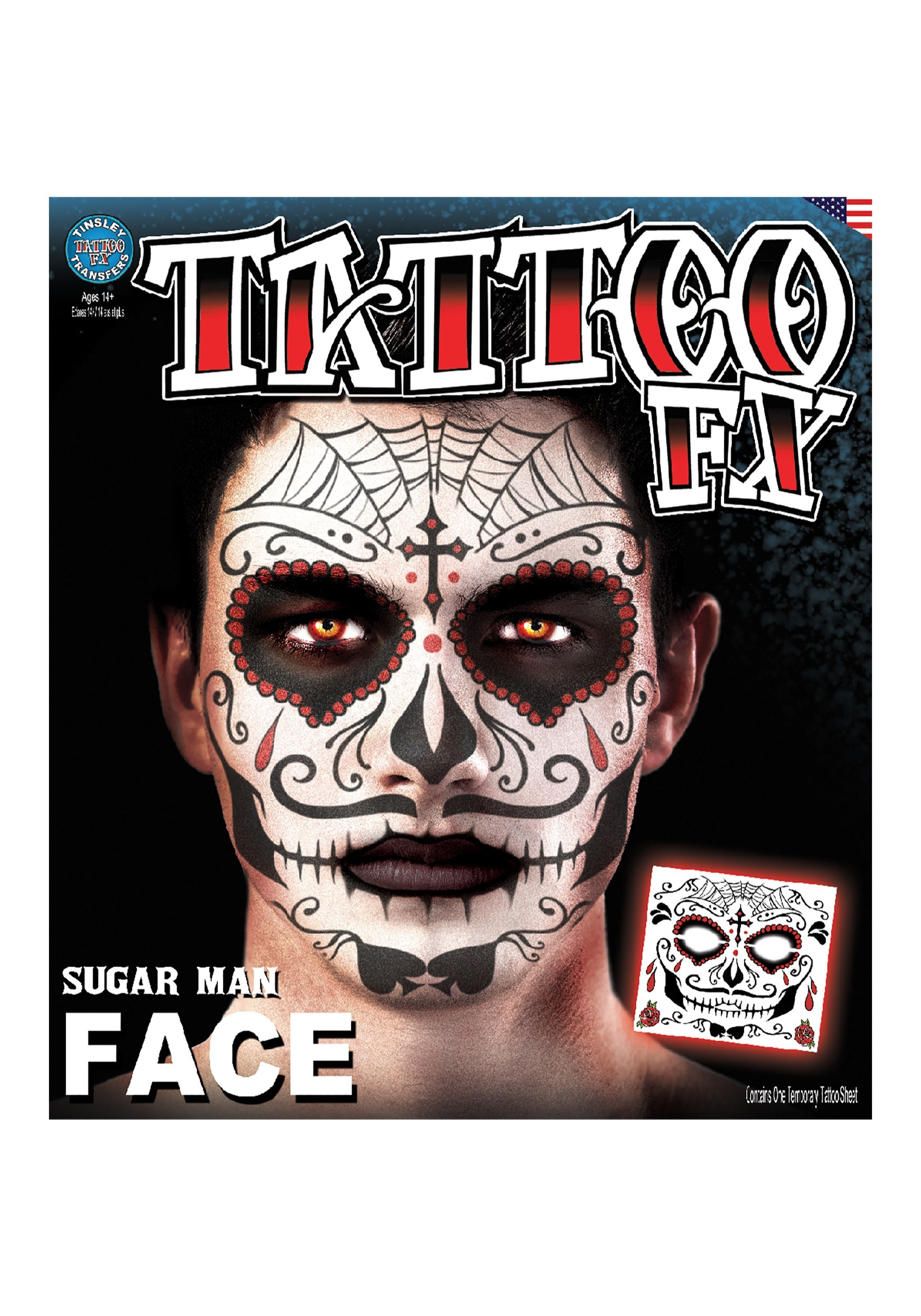 Temporary Day Of The Dead Tattoo